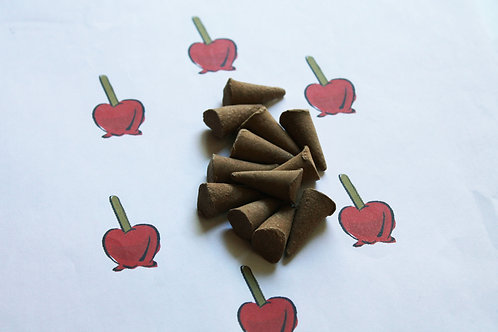 Candied Apple Scented Natural Cone Incense