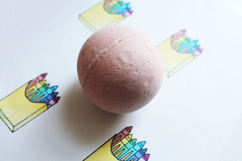 Crayon Scented Vegan Bath Bomb