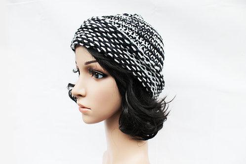 Black and White Beanie Hat