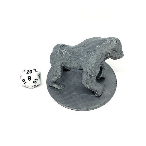 Giant Ape - 3D Printed Unpainted Miniature