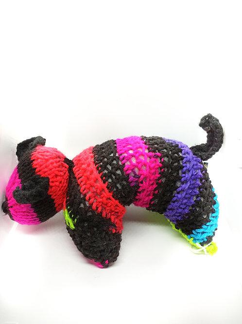 Multicolored Puppy Plush Toy Stuffed Animal