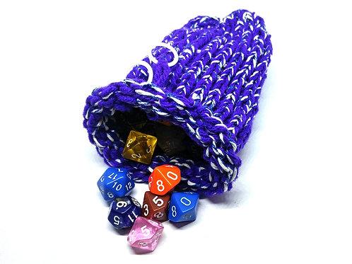 Purple, White, & Blue Dice Bag