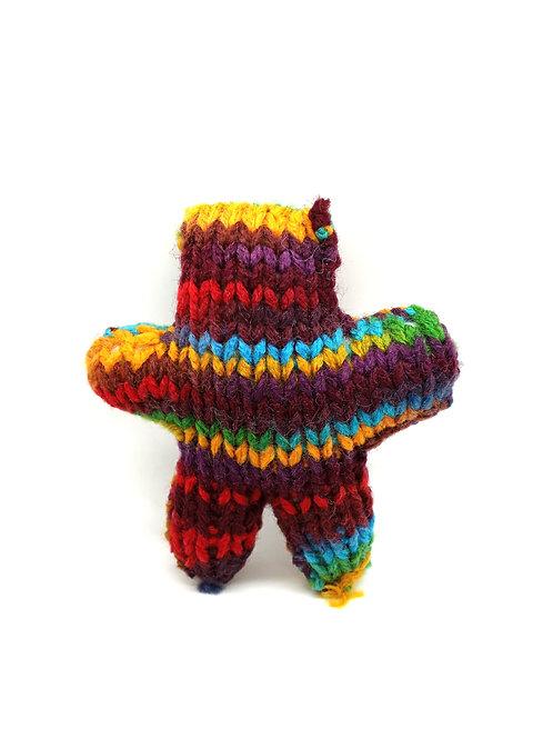 Brown Multicolored Tiny Radical Teddy Bear
