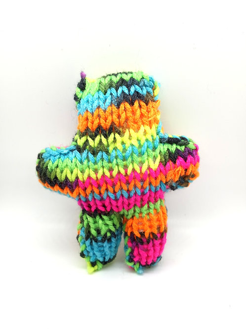 Neon Multicolored Tiny Radical Teddy Bear