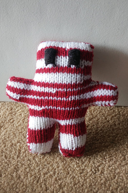 Burgundy White Small Teddy Bear Plush Toy