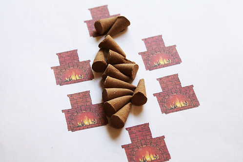 Fireplace Scented Cone Incense