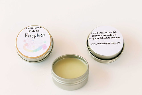 Fireplace Scented Natural Solid Perfume