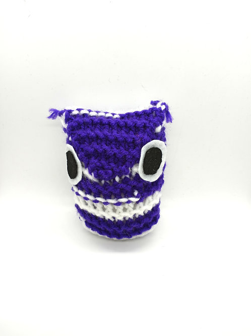 Purple and White Tiny Radical Owl
