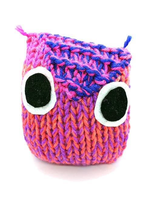 Pink Orange and Blue Radical Owl Stuffed Toy