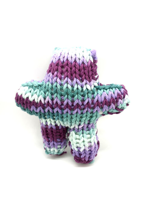 Purple and Green Tiny Radical Teddy Bear
