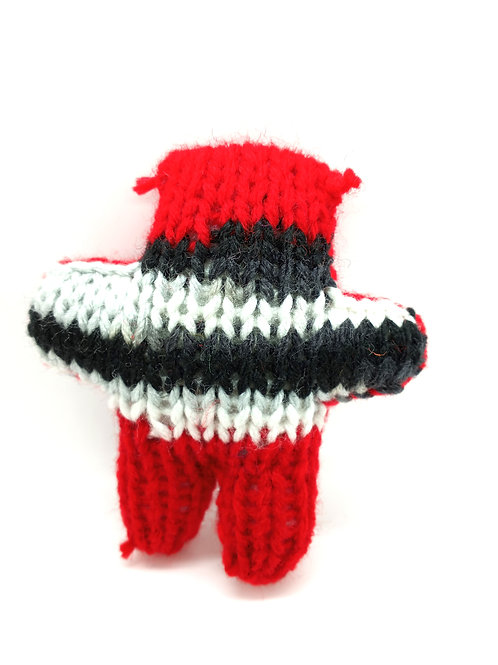 Red, Black, White Tiny Radical Teddy Bear