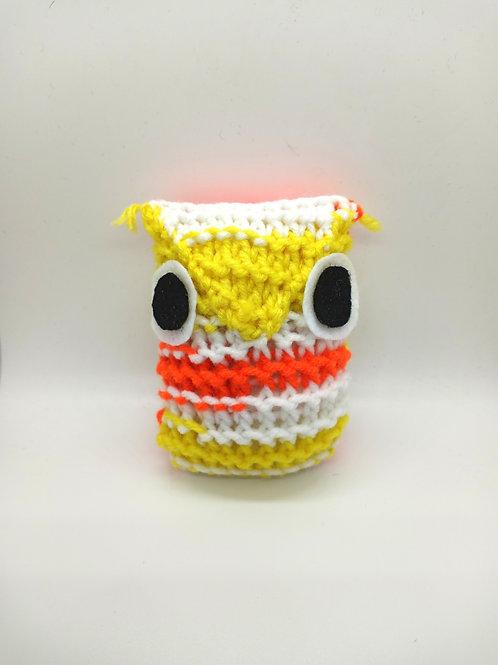 Yellow White and Orange Tiny Radical Owl