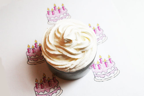 Birthday Cake Natural Vegan Whipped Soap