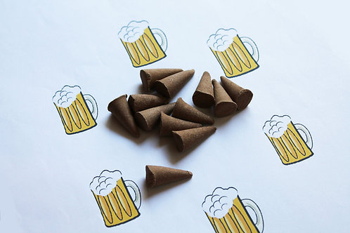Beer Scented Natural Cone Incense