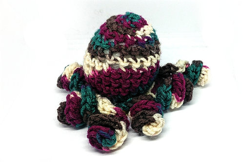 Multicoloured Curly Octopus Plushie