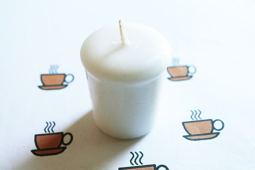 Black Coffee Scented Votive Candle