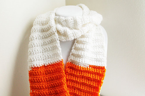 Orange and White Scarf