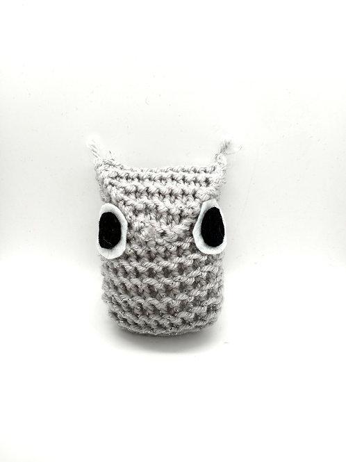 Silver Sparkle Tiny Radical Owl