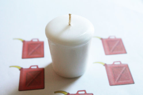 Gasoline Scented Votive Candle
