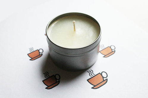 Black Coffee Scented Natural Vegan Tin Candle