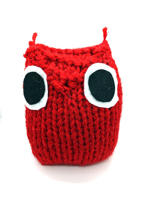 Red Sparkle Radical Owl Stuffed Toy