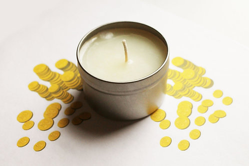 Pirate Gold Scented Natural Vegan Tin Candle