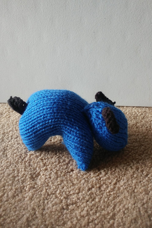 Blue Puppy Plush Toy Stuffed Animal