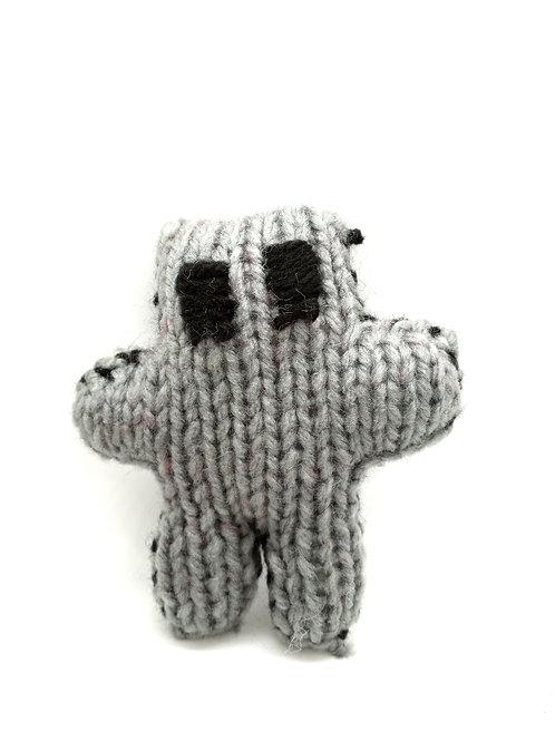 Gray Tiny Teddy Bear Plush Toy