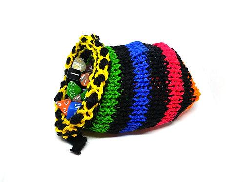 Rainbow Stripe Dice Bag