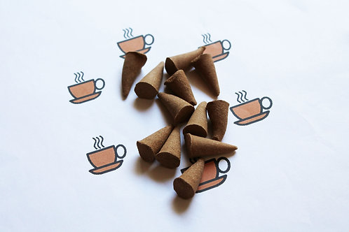Black Coffee Scented Natural Cone Incense