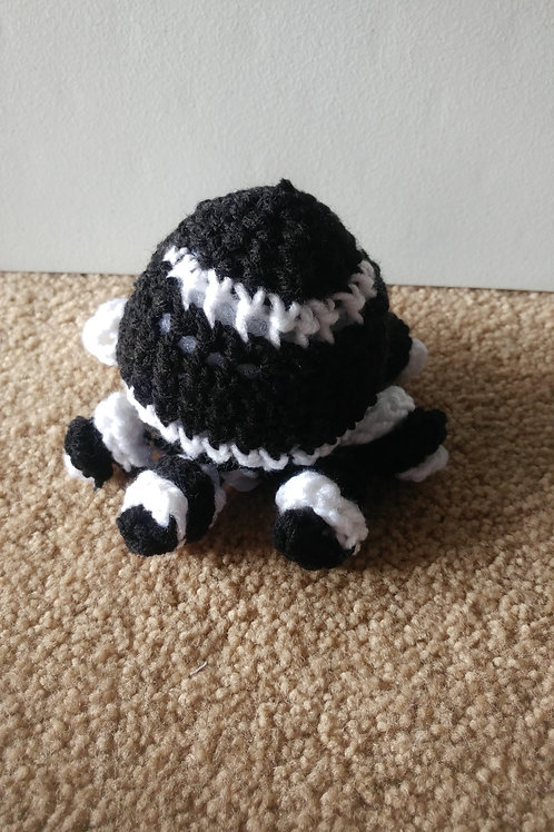Black White Curly Octopus Plushie