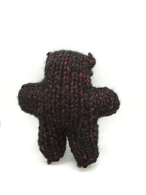 Black with Red Sparkle Tiny Teddy Bear Plush Toy