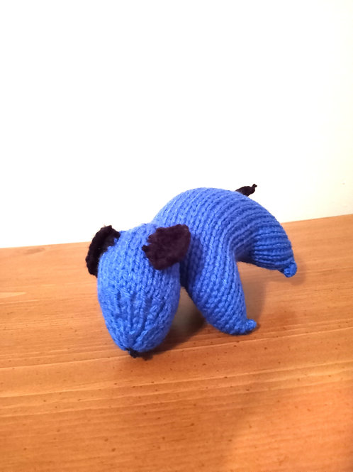 Blue Puppy Plush Toy Stuffed Animal
