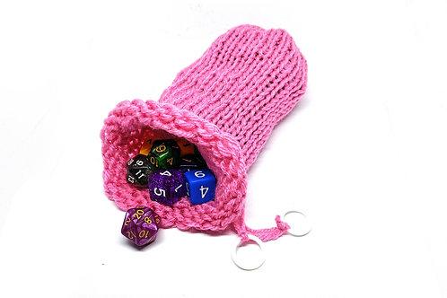 Pink Dice Bag
