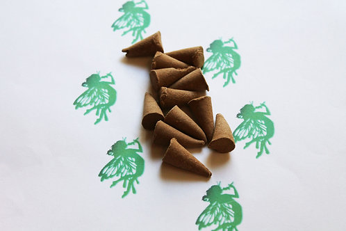 Absinthe Scented Natural Cone Incense