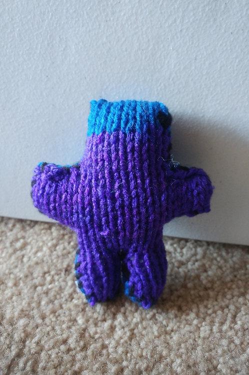 Blue and Purple Tiny Teddy Bear Plush Toy