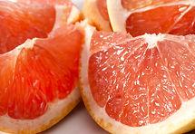 Sliced pink grapefruit