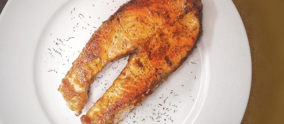 Salmone con mostarda dolce