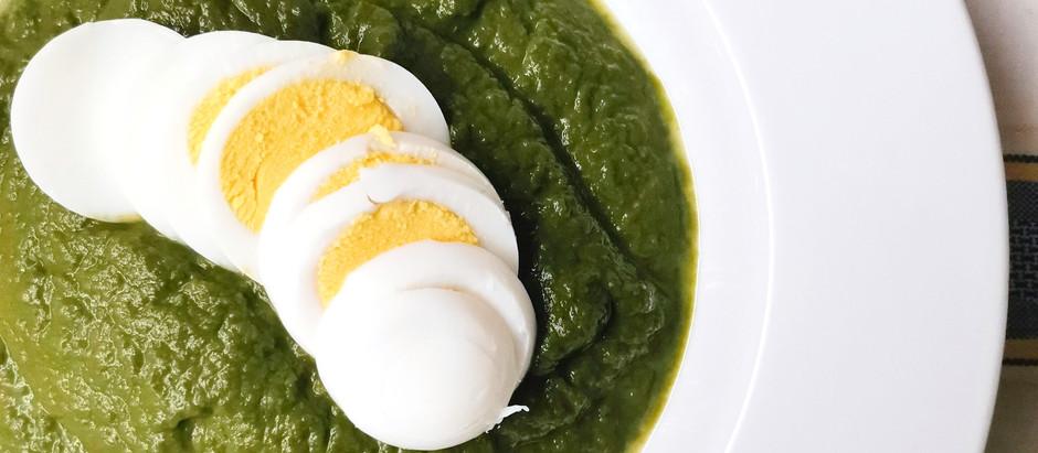 Crema di spinaci e uova