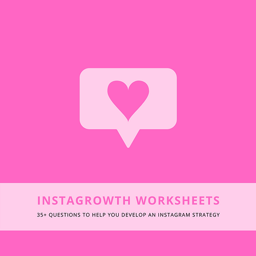 """InstaGrowth"" Worksheets"