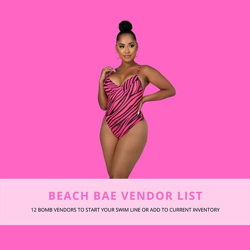 Beach Bae Vendor List