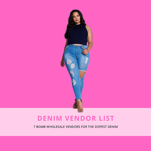 Denim Vendor List