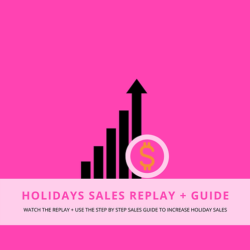 Holiday Sales Replay + Guide