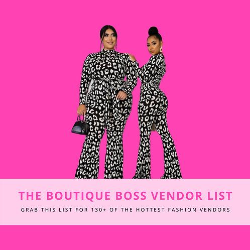 The Boutique Boss Vendor List
