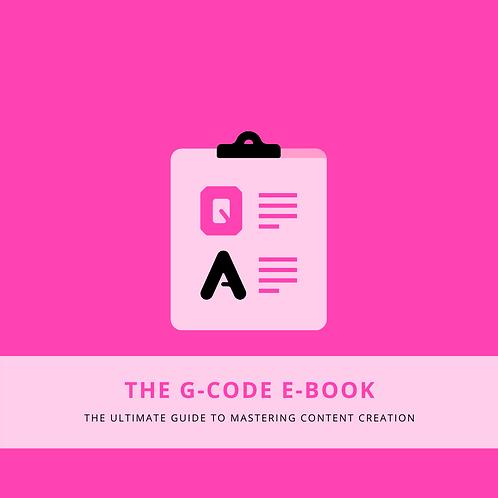 """The G-Code"" Breakdown"