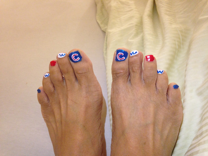 Flying the W...or painting the toes