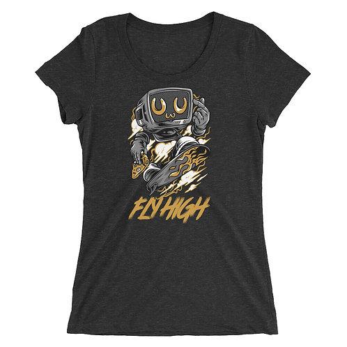 """Robot Fly High"" Ladies' short sleeve t-shirt"