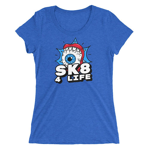 """Sk8 4 Life"" Ladies' short sleeve t-shirt"
