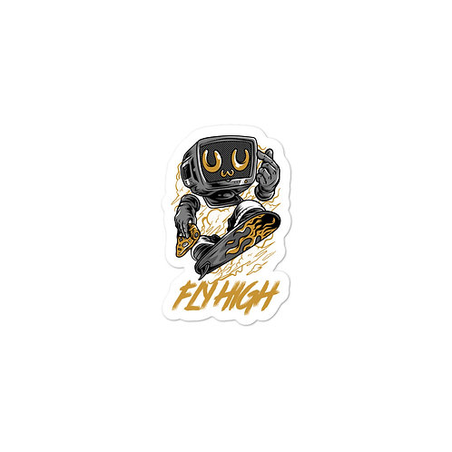 """""""Robot Fly High"""" Bubble-free stickers"""
