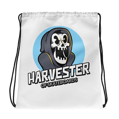 """Harvester of Skateboards"" Drawstring bag"